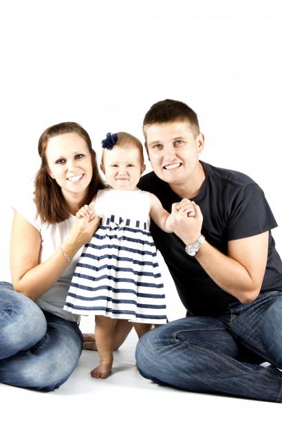 Une famille de 3 : portrait photo